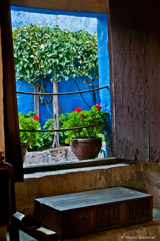 View from a window at the Santa Catalina Monastery