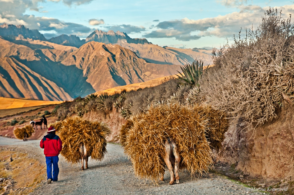 Inca's trail through the Sacred Valley